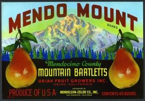 Mendo Mount Fruit Crate Label