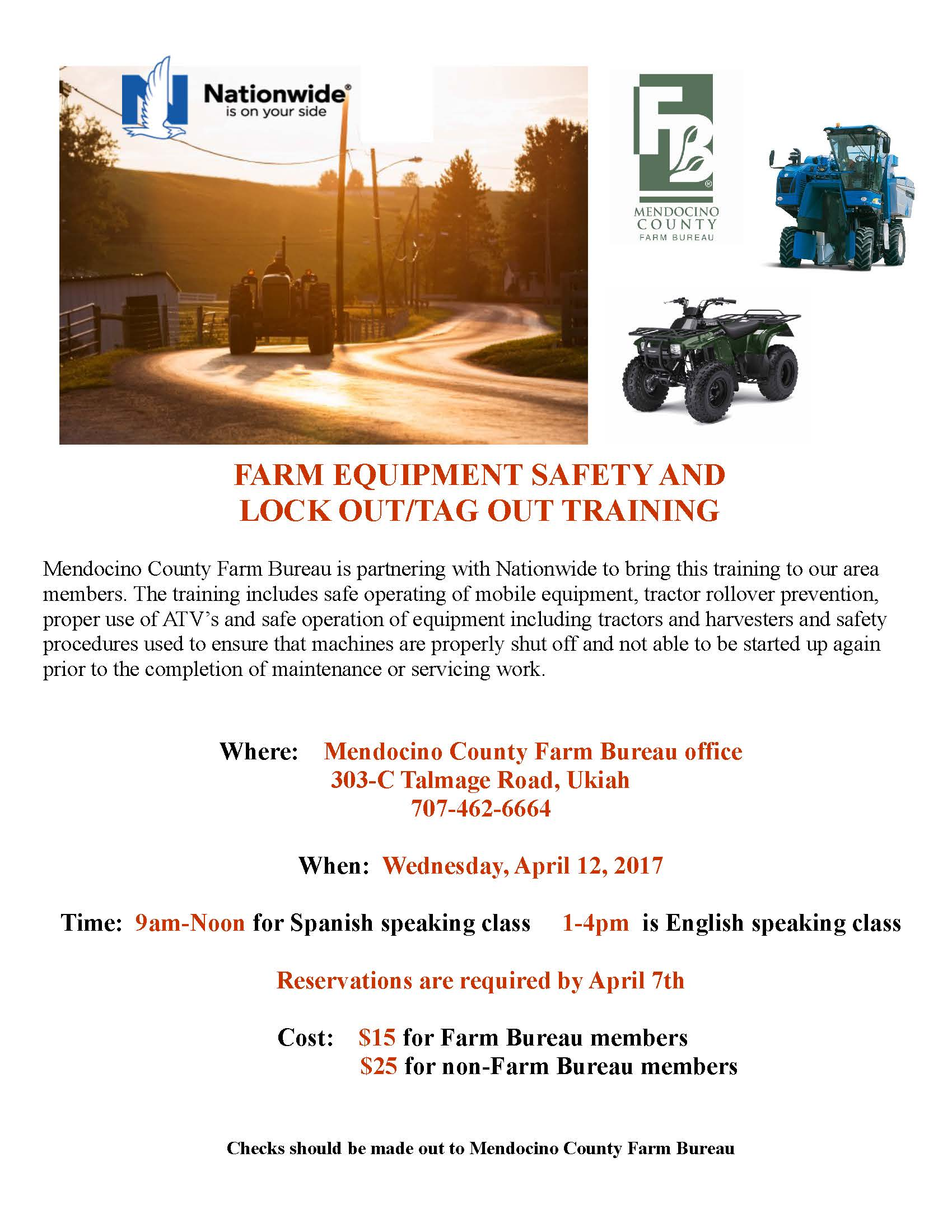 Farm Equipment Safety and Lock OutTag Out Training Mendocino