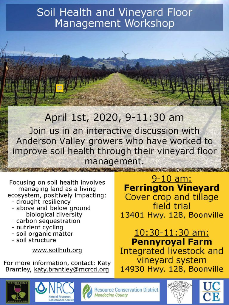 Canceled Soil Health And Vineyard Floor Management